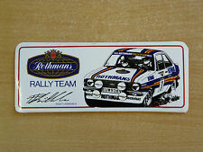 Rothmans Rally Team (Pentti Airikkala) Motorsport Sticker Decal