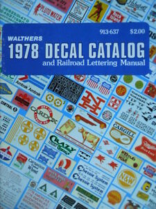 Catalogo Catalog 1978 Walthers and Railroad lettering