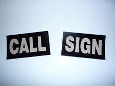 "1 CALL SIGN PATCH TAN ON IR BLACK 3.5""X2"" CUSTOM WITH VELCRO® BRAND FASTENER"