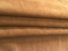 """Faux Suede Fabric solid Caramel Color 56"""" Wide, Soft and Supple Sold by the Yard"""
