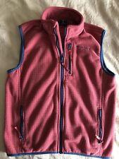 Vineyard Vines Big boys (youth) Flag Patch Grid Fleece full zip Vest sz M pink