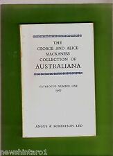 #OO. THE GEORGE & ALICE MACANESS COLLECTION OF AUSTRALIANA CATALOGUE 1, 1967
