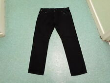 "Firetrap Straight Jeans Waist 36"" Leg 32"" Black Faded Mens Jeans"