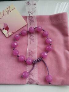 Vintage Lola Rose fushia pink faceted Quartz Bracelet