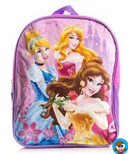 Licensed : Disney Princesses 27cm Backpack Pink Cinderella,Aurora & Belle Girl