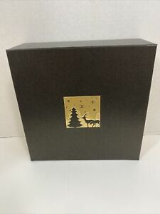 Authentic Chanel Empty Holiday Christmas Magnetic Box Black Bronze Gold