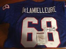 Joe DeLamielleure HOF '03 Autographed Buffalo Bills XL Jersey JSA Certified auto