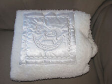 KATIE LITTLE KIDSLINE DELUXE CUDDLE BLANKET SATIN PATCH EMBROIDERY ROCKING HORSE