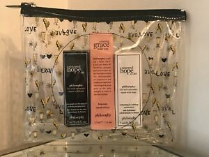 Philosophy 3 Piece Gift Set inc Free Cosmetic Bag Brand New