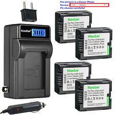 Kastar Battery LCD AC Charger for Panasonic CGR-DU07 CGA-DU07 NV-GS230 NV-GS250