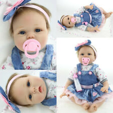 Vinyl Silicone Reborn Doll Real Life Like Looking 22inch Newborn Baby Dolls UK