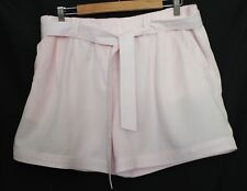 COUNTRY ROAD ~ Pale Pink Lyocell Tailored Shorts w Tie Belt 12