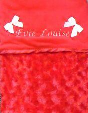 lussuoso bambino personalizzato Coperta in pile GOFFRATO Rosebud Rosso Unisex