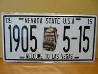 PLAQUES métal embossé immatriculation US 15 X 30 cm : NEVADA Las Vegas Jackpot