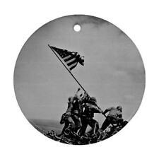 USA FLAG RAISING AT IWO JIMA WW2 CHRISTMAS ORNAMENT NEW O23