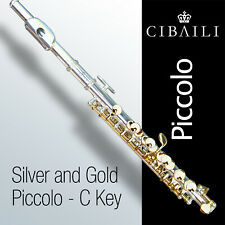 Silver and Gold Cibaili PICCOLO • With Case • BRAND NEW • Perfect for Student •