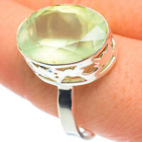 Prehnite 925 Sterling Silver Ring Size 11.25 Ana Co Jewelry R62097F