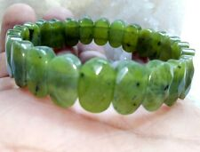 Nephrite Green Jade Natural Stone 15 MM Bracelet