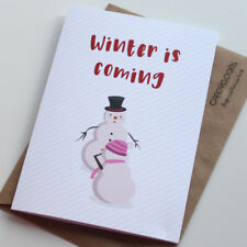 Funny Christmas Card, Game of Thrones, Winter is coming, Xmas, Rude, GOT