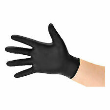 Black Rhino Gloves Nitrile Powder Gloves, Size Medium - Black (Set of 100)