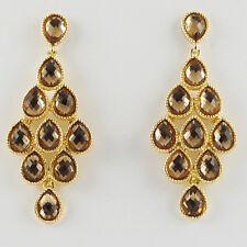 14k Gold GF Austrian crystals teardrops dangle earrings