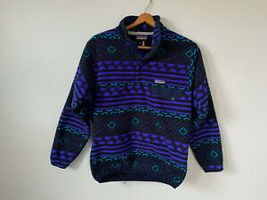 Patagonia Synchilla Fleece Aztec Tribal Pullover Snap-T Purple Fall 2016 Sweater