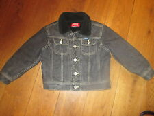 DIESEL BOY'S BLACK WORN LOOK DENIM JACKET AGE 4 YEARS