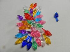 Light up Ceramic Christmas  Tree 30 Multi Colored Small Twist lights/Bulbs