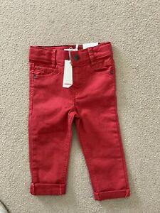 Boys Red Cotton Jeans Age2 Years