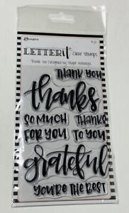 Ranger Letter It Thank You Stamps 8 pc Thanks Grateful Best Clear Acrylic NEW!