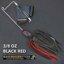 Buzzbait RACING 3/8 oz BLACK RED buzz bait buzzbaits. KVD trailer hook