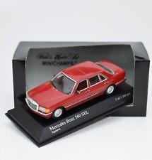 Minichamps 430039307 Mercedes Benz 560 SEL Bj.1989 in rot, 1:43 , OVP, K088