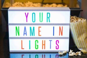 A4 Light Up Cinematic Letter Box LED Cinema Sign Messages Wedding Home Party NEW