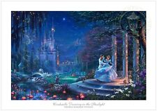 Thomas Kinkade Disney Cinderella Dancing in the Starlight 12 x 18 G/P LE Paper