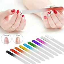 Multi Coloured Crystal Glass Nail File Double Sided Manicure Pedicure Arts Tool