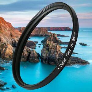 37-82mm UV Digital Filter Lens Protector For Canon Nikon DSLR SLR Camera Black