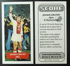 Países Bajos: Ajax despedida-Johan Cruyff-Puntuación Tarjeta De Comercio De Fútbol UK