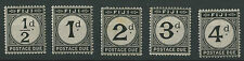 Fiji SGD6-10 1918 1/2d to 4d Postage Dues Mounted mint (some foxing on reverse o