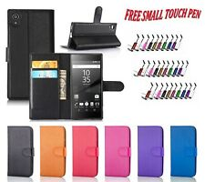 Magnetic PU Leather Wallet Flip Book Cover Holder For Sony Xperia Z3 Compact UK
