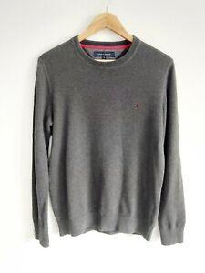 Men's Crew Neck Tommy Hilfiger 100% Cotton Jumper Sweatshirt
