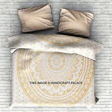 Indian Goldene Mandala Doppelbettdecke Bettbezug Bedding Ethnische Boho Decke