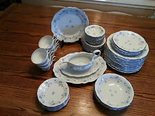 Johann Haviland Bavaria Germany Blue Garland China 51 pieces Dinnerware