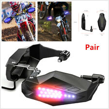 2x Motorcycle Scooter Hand Guards Rainproof Board w/ Lights Windproof Hand Cover