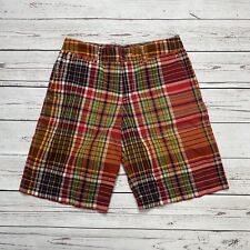 Polo Ralph Lauren Red Plaid Boys Chino Shorts Size 10 Flat Front