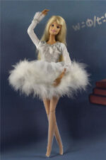 Lovely Fashion White Dress/Clothes/Ballet Skirt tutu+Legging For Barbie Doll