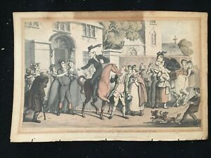 Antique Print-DR. SYNTAX-SECOND TOUR-DEPARTURE-GOODBYE-Rowlandson-Combe-1820