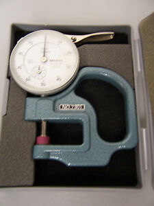9055 MITUTOYO 7301 DIAL THICKNESS GUAGE .01MM - 10MM  NO.2046-08