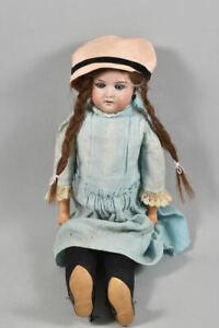 k49l03- Alte Porzellankopf Puppe Armand Marseille, Schlafaugen