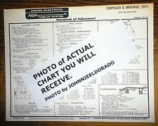 1971 Chrysler & Imperial EIGHT Series 383 & 440 CI V8 Models AEA Tune Up Chart