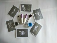 special sale 2 x Glue 2 x brushes for Glitter Tattoo Body Art Make up Glimmer +